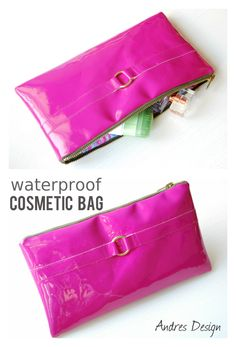 Handmade waterproof cosmetic bag in bold colors. Order now for only 55 lei.