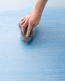Raw-Silk Wall - Martha Stewart DIY Decorating
