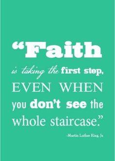 faith is taking the