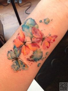 34. #Water Color #Butterfly Tattoo - Love #Butterflies? Here's Why You… #Tattoos