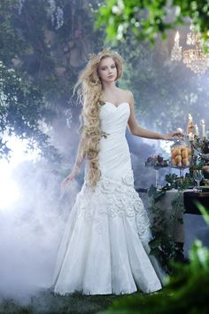 Our Alfred Angelo Disney princess gown, Rapunzel