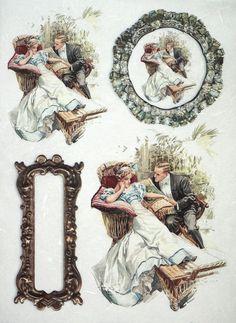 Rice Paper for Decoupage Decopatch Scrapbook Craft Sheet Vintage Romantic Date 2