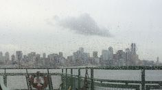 A rainy day on the ferry.