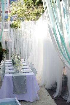 tiffanys theme bridal shower. Decor could even work for wedding/reception.