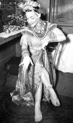 Now here's a colourful lady - Carmen Miranda