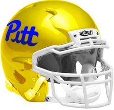 Pitt Script Football Helmet Design / Bryan Brunsell. Pitt Panther Football ACC