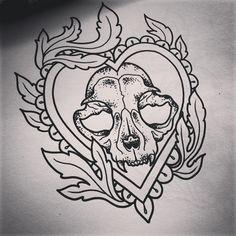 Risultati immagini per skull cat tattoo