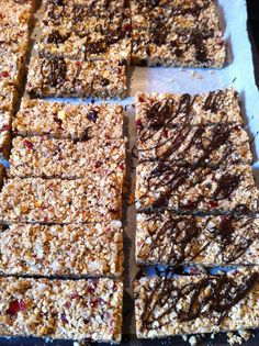 Granola bars - chocolate and no chocolate