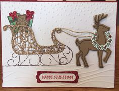 SANTA'S SLEIGH. I am so excited about the new Stampin' Up holiday catalog!!!! This is a sneak peek! This set is Santa's Sleigh!