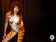 Tiger #bodypaint #makeup