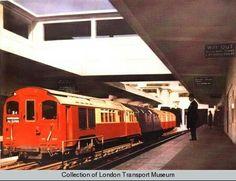Subway train at Hammersmith Station 1935