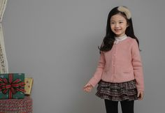 Korea children's No.1 Shopping Mall. EASY & LOVELY STYLE [COOKIE HOUSE] Popsicles Pocket Cardigan / Size : S,M,L / Price : 44.27 USD #cute #koreakids #kids #kidsfashion #adorable #COOKIEHOUSE #OOTD #outer #outwear #dailylook #dailyfashion #cardigan