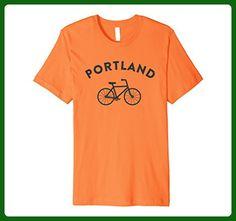 Mens Portland T-Shirt City Bike Premium Retro Style Cycling Tee Orange - Retro shirts (*Partner-Link) Retro Shirts, Gym Shirts, Sports Shirts, Workout Shirts, Funny Shirts, Tshirt Business, Drinking Shirts, Branded T Shirts, Retro Fashion