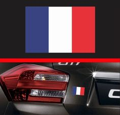 4  French Flag Vinyl Decal Bumper Sticker France FR Self Adhesive Macbook Car