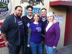 Brigid hosts her special Purple Day event every year in Chicago.