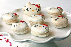 Hello Kitty Macaron Recipe! #food #recipe #cookie