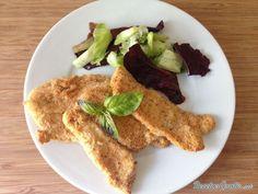Receta de Pechuga de pollo rebozada al horno - Fácil