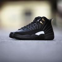 NIKE AIR JORDAN 12 RETRO BLACK/RATTAN-WHITE-METALLIC GOLD