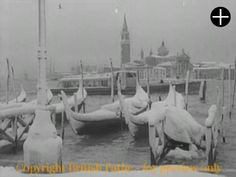 Gondolas covered with snow in 1955 (short video)