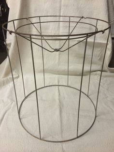 Wire Lampshade Frames Beauteous Vintage Wire Lamp Shade Frame For Bell Shape Old Victorian Lampshade Design Ideas