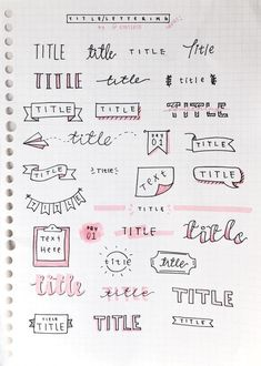 bullet journal ideas \ bullet journal & bullet journal ideas & bullet journal layout & bullet journal inspiration & bullet journal doodles & bullet journal weekly spread & bullet journal ideas layout & bullet journal how to start a Bullet Journal School, Bullet Journal Inspo, Journal D'inspiration, Bullet Journal Headers, Bullet Journal Banner, Organization Bullet Journal, Bullet Journal Writing, Journal Fonts, Bullet Journal Aesthetic
