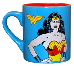 Amazon.com: Wonder Woman DC Comics Comic Panel Superhero Ceramic Coffee Mug: Kitchen & Dining