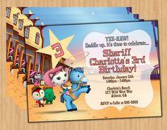 Sheriff Callie Digital Birthday Party Invitation