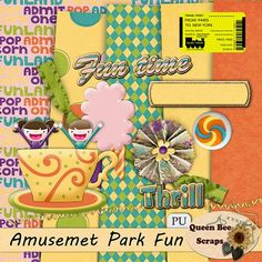 Tammy Tags Blog Train Post - August 2014, Paris to New York, Amusement Park Fun.  Cute blog train with some great digital scrapbooking freebies!