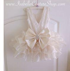 Marfil flor chica vestido vestido de encaje de ANGELA