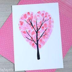 Pyssla med fingeravtryck! Så gör du ett kärleksträd inför Alla hjärtans dag