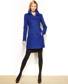 ShopStyle(ショップスタイル): Anne Klein Wool Pea Coat