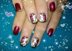 Acrylic Nails, Projects To Try, Mini, Red, Nail Art Designs, Nice Nails, Designed Nails, Butterflies, Amor