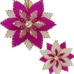 Reversible Christmas Flower Ornament Kit (Pink) by ThreadABead