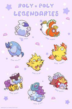 chubby legendary pokemon poster A