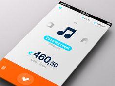 Simple Spending Control App - dribbble Image