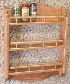 Wood Spice Rack Plans - The Best Image Search Spice Rack Plans, Diy Spice Rack, Wood Spice Rack, Wood Rack, Amish Furniture, Kitchen Furniture, Diy Furniture, Diy Wood Projects, Wood Crafts