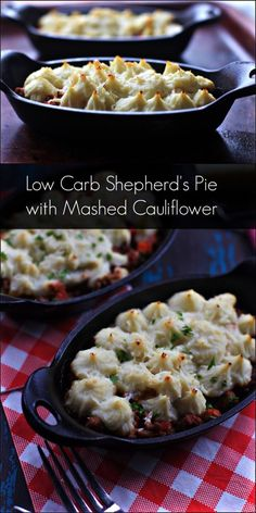 Low carb cauliflower crust shepherd's pie recipes, using five different meat fillings, from easy to slower cooking, paleo friendly, gluten free, grain free.