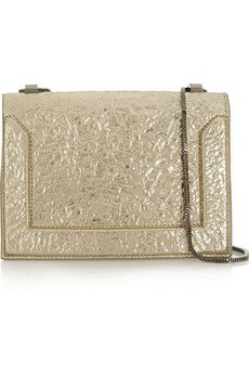 3.1 Phillip Lim Soleil metallic textured-leather shoulder bag | NET-A-PORTER