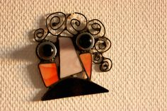 Stained glass sun catcher/ wall decoration: modern by CurlyWay