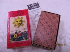 Vintage 1970 AG Muller + Cie Tarot Cards with Instructions Mint condition in Original Box Switzerland Complete Plaid back by EvenTheKitchenSinkOH on Etsy