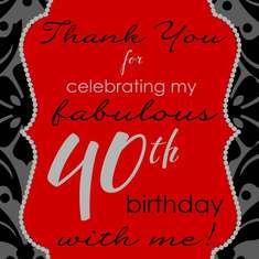 40 & Fabulous! - 40th birthday party