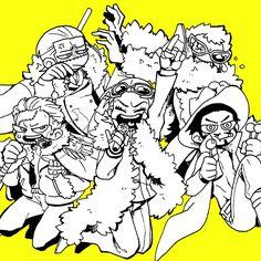 One Piece, Mihawk, Doflamingo, Tesoro, Sir Crocodile, Smoker