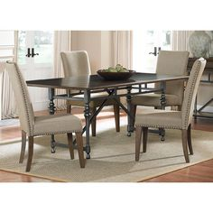 Ivy Park 5-piece Weathered Honey Dinette Set | Overstock.com Shopping - Big Discounts on Dining Sets