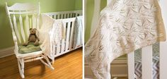 Knitted Leafy Baby Blanket [FREE Knitting Pattern]
