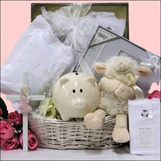Bless This Baby Girl Gift Basket