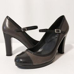 "⚡️SALE⚡️Lauren Charcoal Grey Leather Platforms New and amazing heels!!! Sexy and understated. Charcoal grey leather and pattern leather Mary Janes. 1/2"" platform, 4"" heels. Never worn! NWOB Lauren Ralph Lauren Shoes Platforms"