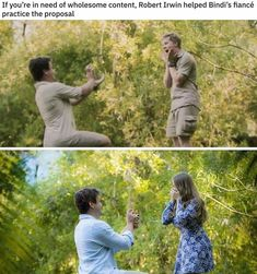 If you're in need of wholesome content, Robert Irwin helped Bindi's now husband practice the proposal Stupid Funny, Funny Cute, Really Funny, Hilarious, Stupid Memes, Sweet Stories, Cute Stories, Irwin Family, Human Kindness