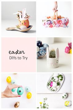 5 Easter DIYs To Try - Today's Roundup is all about my favorite Easter DIYs to try this year. Click through for details on these gorgeous projects