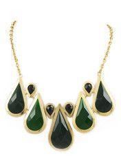 Emerald Rain Necklace - Modeets.com $33