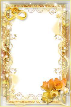 Yellow Wedding PNG Photo Frame